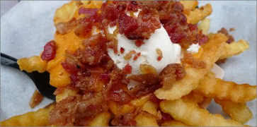3 Layered Fries - Cheese, Bacon and Sour Cream