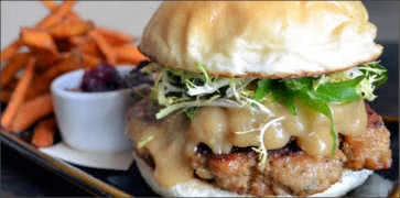 Turkey Burger with Apple Stuffing