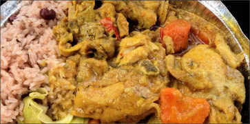 Jamaican Curry Chicken Meal
