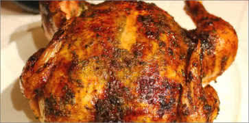 Citrus Rosemary Brined Roasted Whole Chicken