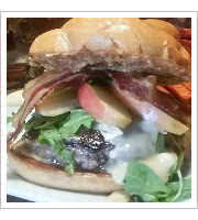 Apple Bacon and Brie Burger at Forn n Cork