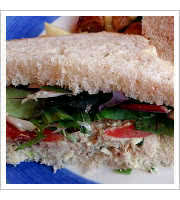 Chicken Salad Sandwich at The Leaping Lizard Cafe