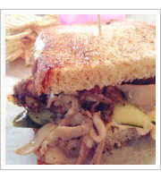 Duck Pastrami Sandwich at Noble Sandwich Co