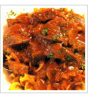 Hungarian Beef Goulash at Broadway Diner