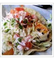 Jumbo Shrimp Tacos at Blue Water Seafood Market and Grill