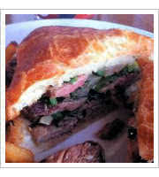 NY Steak Sandwich at Sammys Bistro