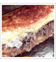 Pork Adobo Grilled Cheese at Belly & Snout