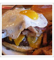 RHI Burger at Rocky Hill Inn
