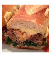 Sacred Swine Sandwich at Maries Italian Specialties