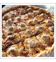 Sausage Pizza at The Original Vitos and Nicks Pizzeria