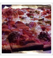 Thin Crust Pizza at Louies