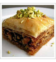 Walnut Baklava at Byblos Mediterranean Cafe