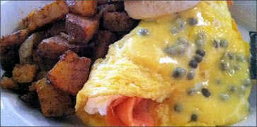 Smoked Salmon and Cream Cheese Omelette
