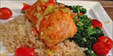 Salmon with Brown Rice
