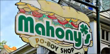 Mahonys Po Boy Shop in New Orleans