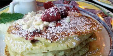 White Chocolate Raspberry Pancakes