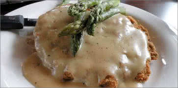 Chicken Fried Steak with Asparagus