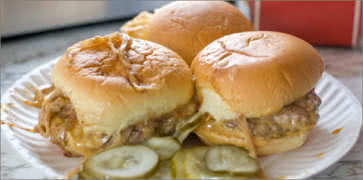 White Manna Hamburgers Food